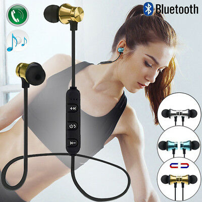 Bluetooth 4.1 Stereo Earbuds Earphone Headset Wireless Magnetic In-Ear Headphone