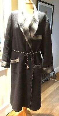 Vintage Mens Woolen Dressing Gown Robe Size M