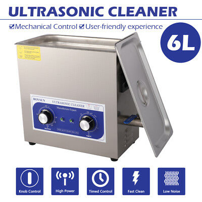 6L 180W Dental Jewelry Stainless Ultrasonic Cleaner Heater Timer 110v Portable