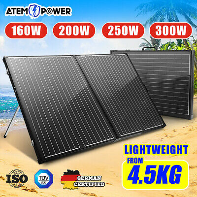 Atem Power 160W 200W 250W 300W Folding Solar Panel Kit 12V Mono Caravan Camping