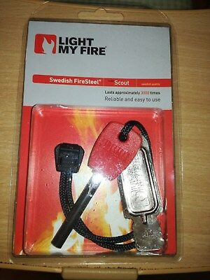 LIGHT  MY  FIRE  Swedish  Fire  Steel  * SCOUT *  - NEU  und  ORIGINALVERPACKT -