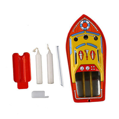 Putt  Retro Tin Steam Boat  Pop Candle/Steam Power  Ship Collec table Tin Toy