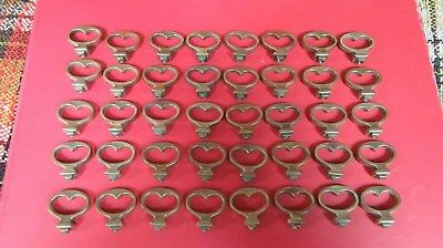 Lot of 40 Vintage Antique Brass Tone Colored Furniture Drawer Door Pulls
