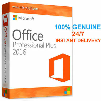 Genuine Microsoft Office 2016 Professional Plus Product License Key Download