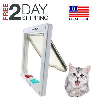 Dog Cat Flap Doors with 4 Way Lock for Pets Entry & Exit-2016 New Design
