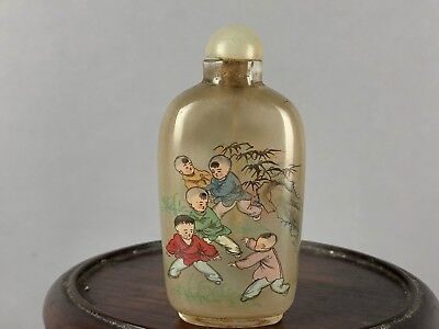 20th C. Chinese Inside-Painted Glass Snuff Bottle