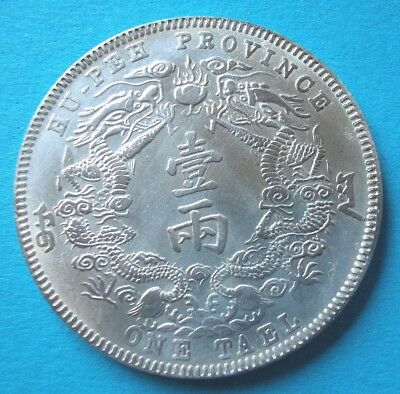 China Dollar 1909-1911 Hu-Peh One Tael Medaille 39 mm+18 g