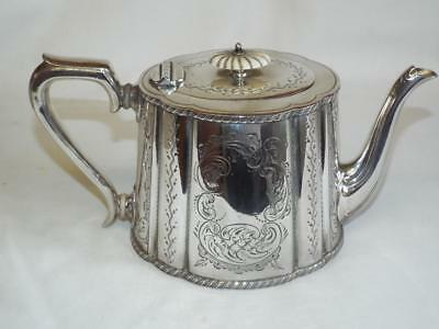 Super antique Kings Plate EPBM teapot with chased decoration.