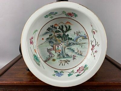 19th C. Chinese Famille-Rose Porcelain Basin