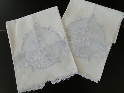 Antique Linens -Two Appenzell Tea Towels W/lady In Period Dress