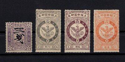 P97369/ Korea Empire / Y&t # 33 – 35 / 37 Neufs / Mint 110 €