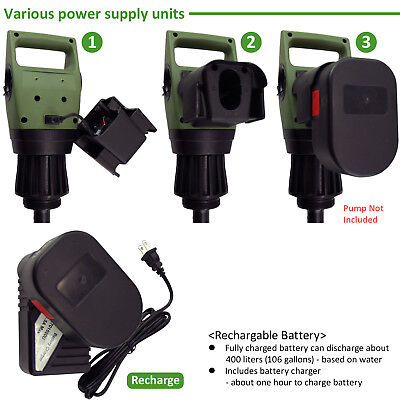 [TERA PUMP] Rechargable Battery Charger Detachable Battery Holder On Pump (1PK)
