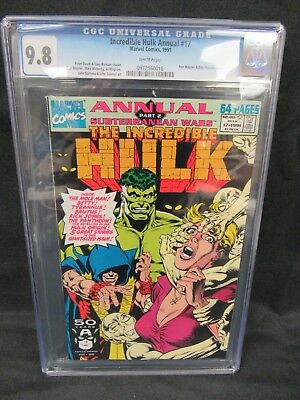 Incredible Hulk Annual #17 (1991) Ron Wagner Cover CGC 9.8 White Pages E347