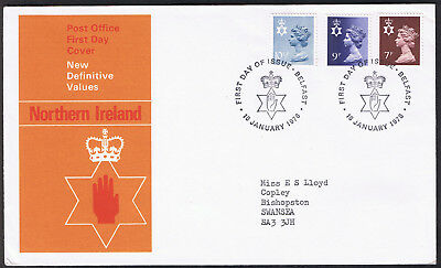 Northern Ireland New Definitive Values First Day Cover 18th January 1978 ni22...