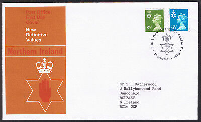 Northern Ireland New Definitive Values First Day Cover 14th January 1976 ni21...