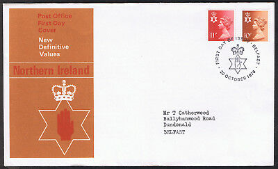 Northern Ireland Definitive Values 1st Day Cover 20 October 1976 ni27 Belfast