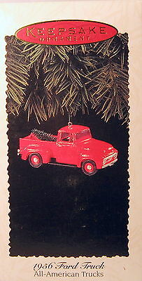 Hallmark 1995   1956 Ford Truck Ornament  #1  In The Series