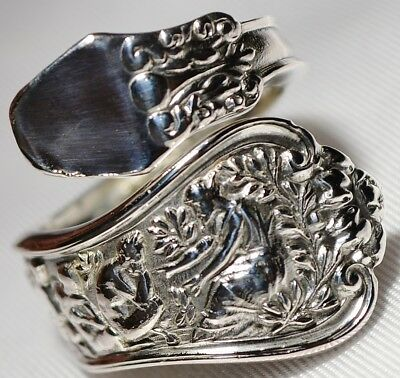 Antique 1878 TIFFANY & Co OLYMPIAN STERLING  Spoon Ring  Free Ship Size 7