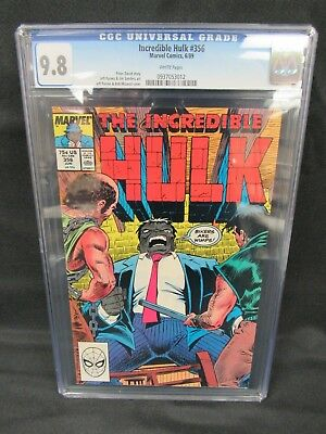 Incredible Hulk #356 (1989) Bob McLeod Cover CGC 9.8 White Pages E352