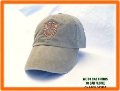 U.S. ARMY Special Forces Group Airborne GREEN BERET WE DO BAD THINGS HAT CAP V2