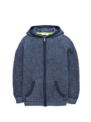 V by Very Twisted Knit Zip Through Cardigan in Blue Size 13-14 Years