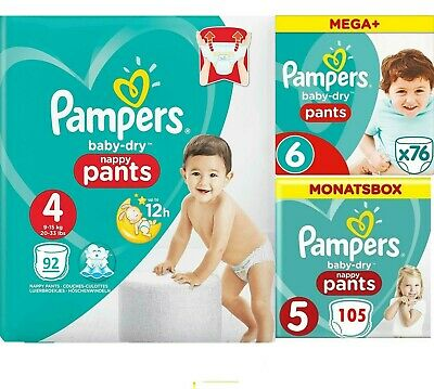 Pampers Baby-Dry Nappy Pants, Diaper Monthly saving, Size Size 4 5 6