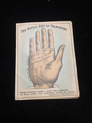 SAPOLIO Trade Card Antique Victorian Whole Art Of Palmistry Advertising