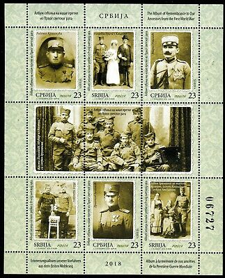 1355 SERBIA 2018 - The Album of Remembrance - First World War - MNH Sheet