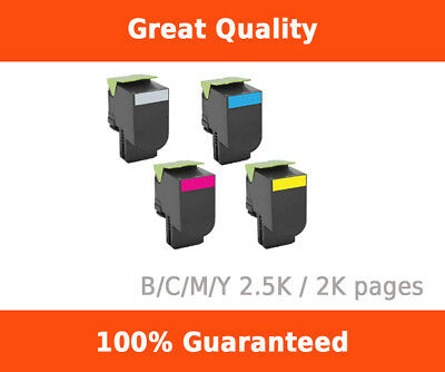 Toner for Lexmark CX310/410/510 compatible cartridge BCMY