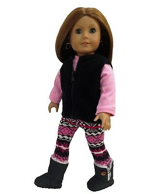 """Halloween Shirt with Cat  /& Legging Costume fits 18/"""" American Girl Doll Clothes"""