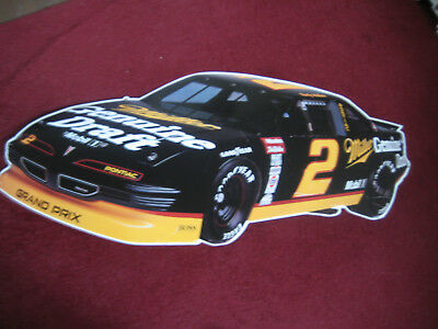 "Vintage 1990's Miller Genuine Draft Rusty Wallace #2 NASCAR Metal Sign 46"" x 20"""