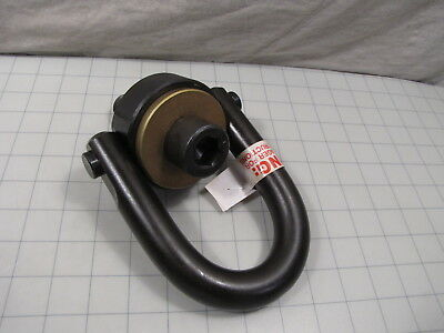 "Jergens 23427 Hoist Ring Center Pull Standard U-Bar 10,000lb 2-1/4"" Bolt Length"