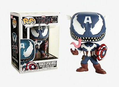 Funko Pop Marvel Venom: Venomized Captain America Bobble-Head Item #32686