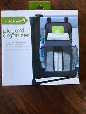 NIB Dexbaby Hanging Diaper Storage Caddy and Nursery Organizer for Baby - Gray