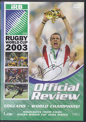 2003 Rugby World Cup Dvd Signed By Lawrence Dallaglio