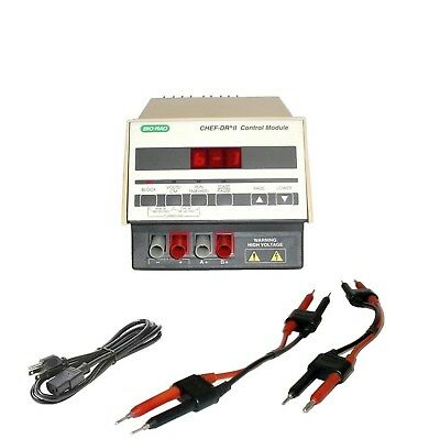 Bio-Rad Chef DR II Electrophoresis Control Module Power Supply Biorad w/Leads