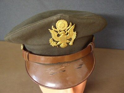 Original WW2 US Army Air Force Pilot crusher OD elastique cap