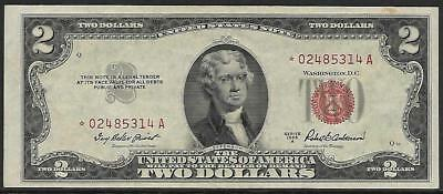 United States Note - Two Dollar $2.00 - Series 1953A - AU - STAR NOTE