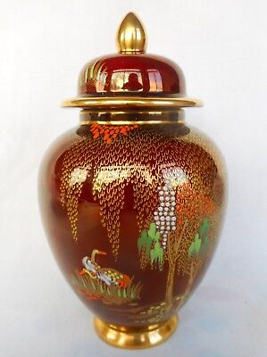 A  Small   Carlton Ware  Rouge Royale Temple Jar   ~ Lovely Decorative Item !