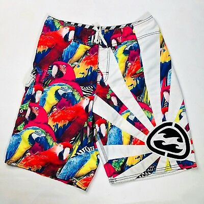 63d1efe598 BILLABONG MENS ANDY Irons Parrot RARE Rising Sun Board Surf Shorts ...
