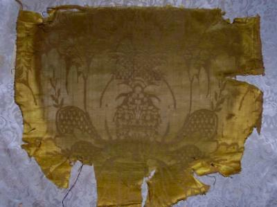 RARE EARLY 18th CENTURY FRENCH LOUIS XIV SILK & LINEN DAMASK BROCADE, 161