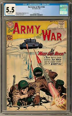 Our Army at War #106 CGC 5.5 (OW) Joe Kubert Sgt Rock Art