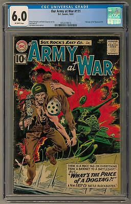 Our Army at War #111 CGC 6.0 (OW) Joe Kubert Cover & Art