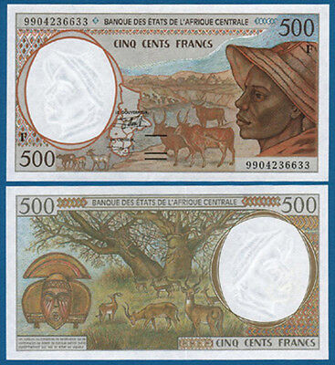 CENTRAL AFRICAN STATES / C.A.R. 500 Francs (19)99 UNC P.301F f