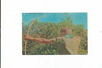 Scout Bsa Postcard Viking Council Many Point Camp Reservation Archery Mn Post !!
