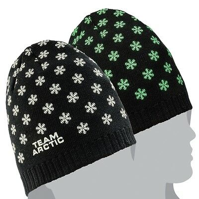 Arctic Cat Youth Glow in the Dark Snowflakes Acrylic Beanie - Black - 5273-089