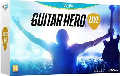 Guitar Hero Live Wii U (Activision) with 2x Guitar Controller Party PAL Game New