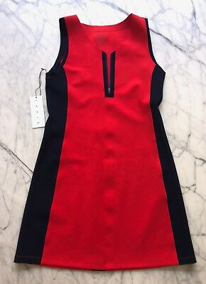 LAAIN Tennis Dress Skirt One-piece Brand New With Tags £179 Medium Red Blue S