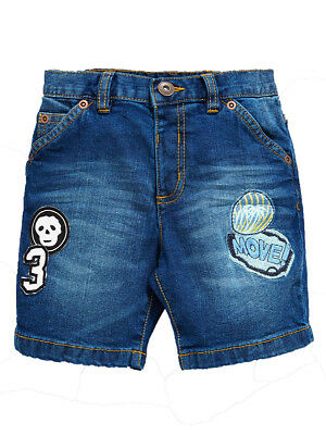 Mini V by Very Boys Badged Denim Shorts in Blue Size 4-5 Years