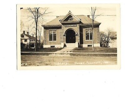 Rppc--  Library At Dover-Foxcroft, Maine - 1938,